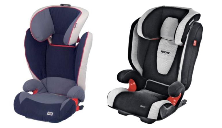 ISOFIX w fotelikach 15-36 Roemer Kidfix i Reacaro Monza Seatfix