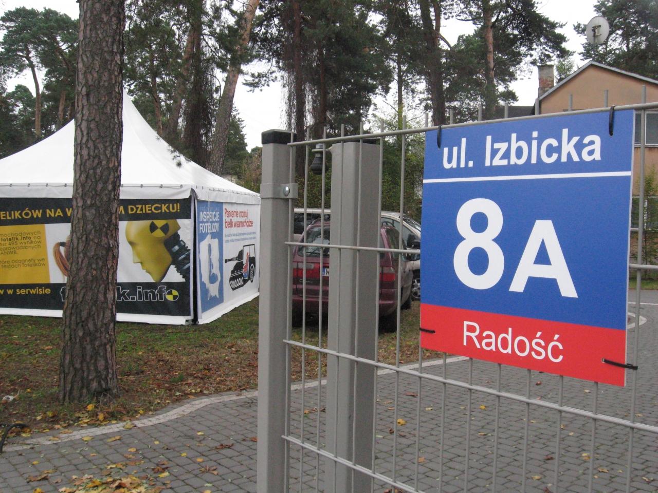 Nowa siedziba fotelik.info mieści się przy ulicy Izbickiej 8a w Warszawie-Radości