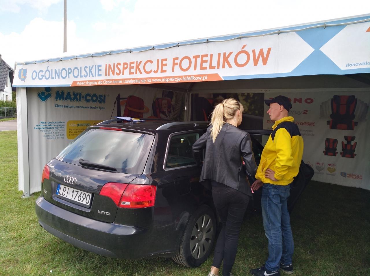 Ostatnie inspekcje w Białej Podlaskiej pokazały, że skala zapotrzebowania na edukację w sprawie fotelików jest bardzo duża.