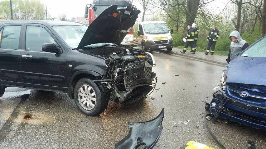 Auto Pani Agaty i Kamila tuż po wypadku...