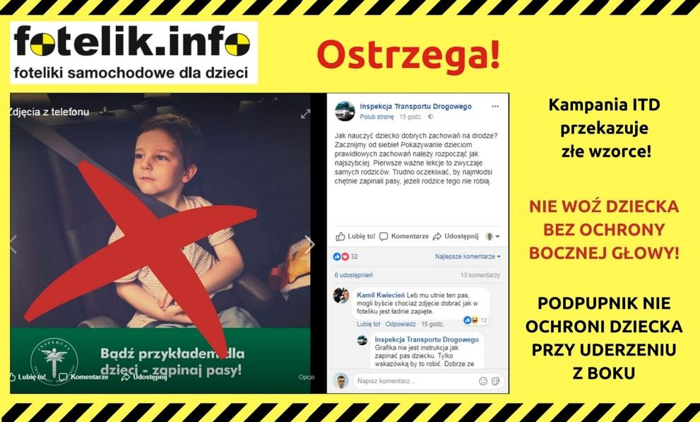 I zdjęcie dziecka w podpupniku poszło na całą Polskę, jako przykład BEZPIECZNEGO przewozu :-) Udostępniajcie nasz apel znajomym, niech jak najwięcej osób się o tym dowie!