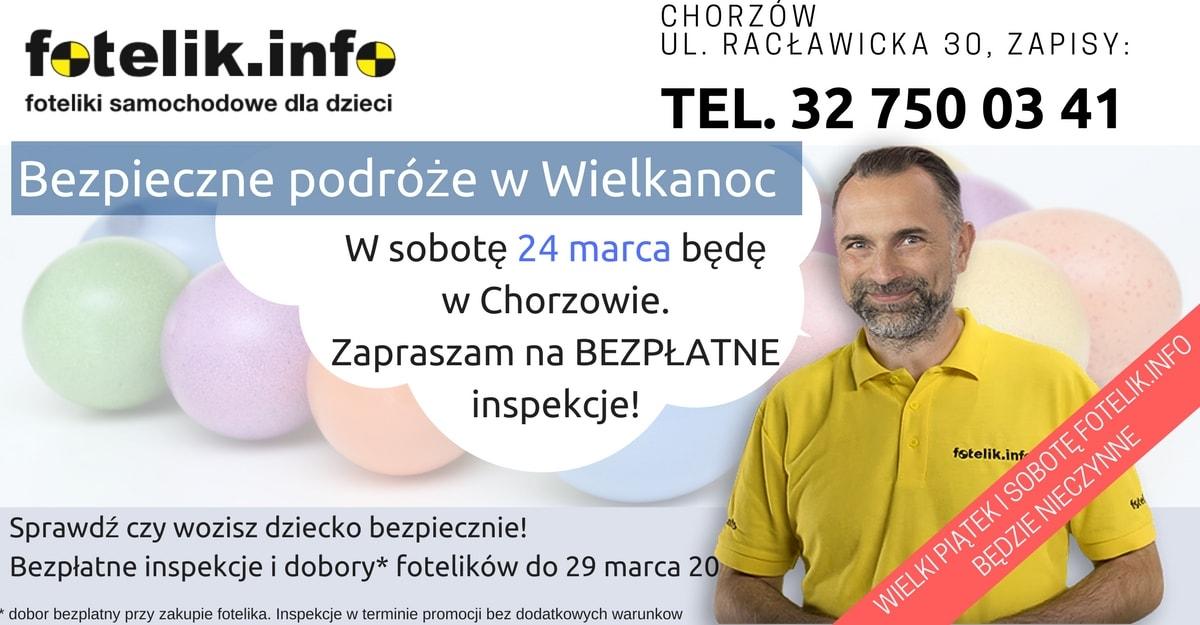 Paweł Kurpiewski na bezpłatnych inspekcjach w Chorzowie! Inspekcje fotelików co pół godziny. Brzmi jak bajka? Zadzwoń do nas i umów się na wizytę!