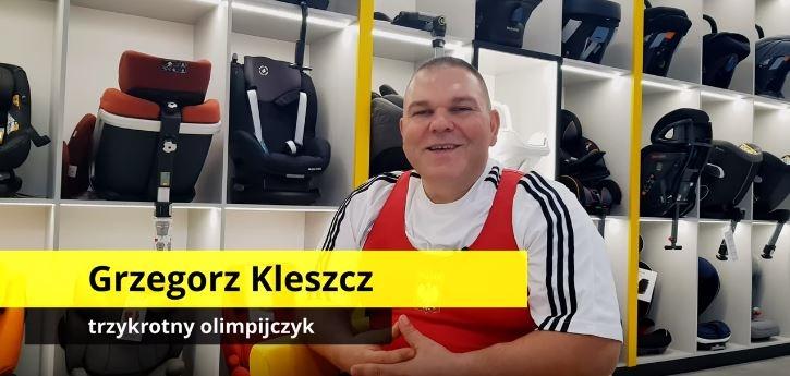 Na zdjęciu - technik fotelik.info Grzegorz Kleszcz, trzykrotny Olimpijczyk