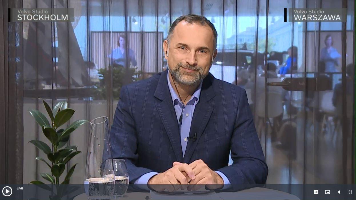 Paweł Kurpiewski - biomechanik zderzeń i ekspert ds dzieci w samochodach, jeden z czterech prelegentów podczas VOLVO STUDIO TALKS