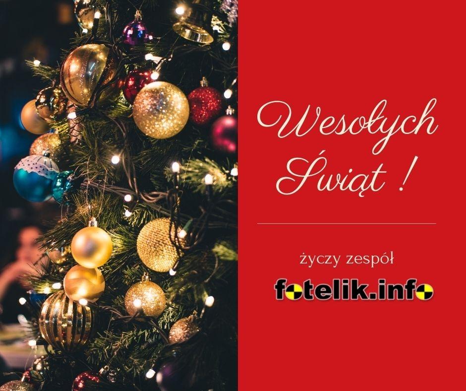 Wesołych Świąt Bożego Narodzenia, życzy cały zespół fotelik.info!