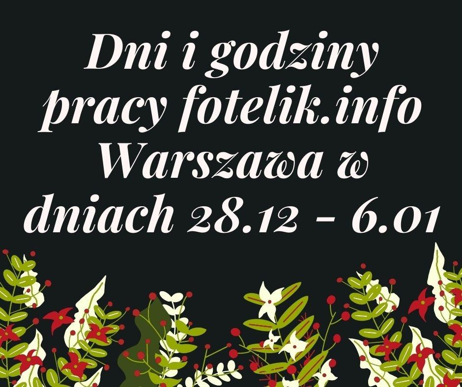 Ekipa fotelik.info wraca po Świętach! W jakich dniach i godzinach można nas odwiedzić w Warszawie?