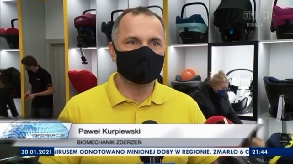 Na otwarciu pojawił się również Paweł Kurpiewski, który opowiedział o inspekcjach fotelików oraz o tym, jakie warunki powinny spełniać współczesne foteliki samochodowe