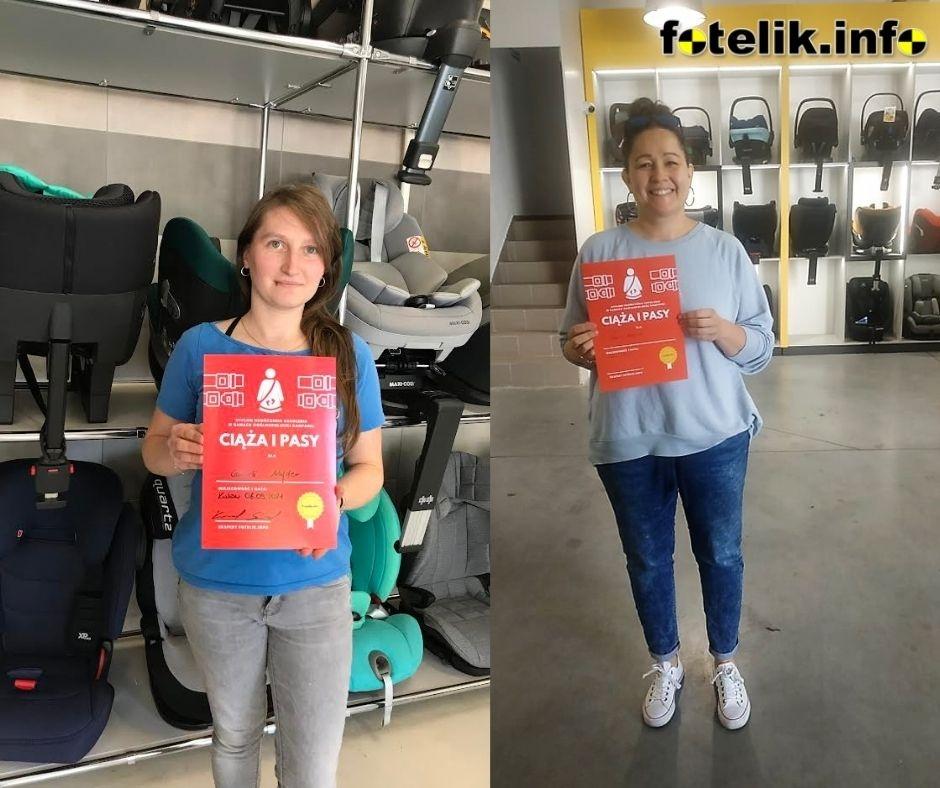 Pierwsze ambasadorki kampanii fotelik.info Ciąża i Pasy zdobywają certyfikaty. A czy Ty zapisałaś się już na szkolenie?