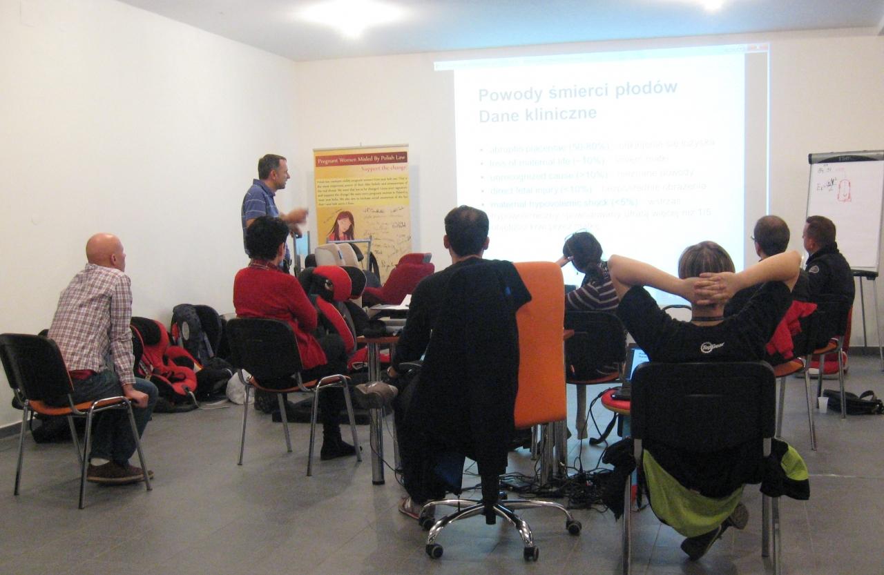 Część wykładowa szkolenia - uczestnicy dostali dużą dawkę teorii do przyswojenia