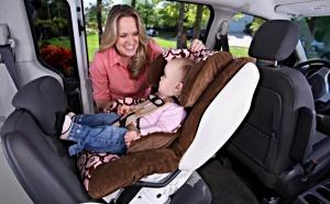 Nóżki w foteliku tyłem do kierunku jazdy są zawsze lepiej chronione