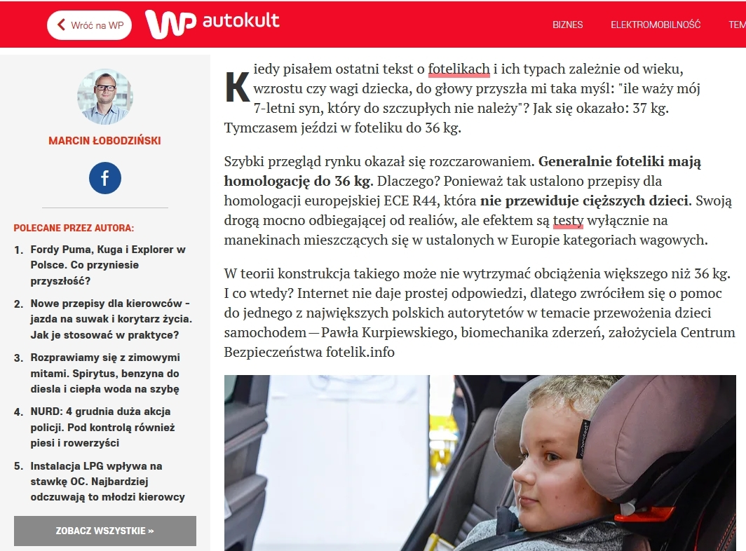 fotelik.info gościł wp.pl Autokult