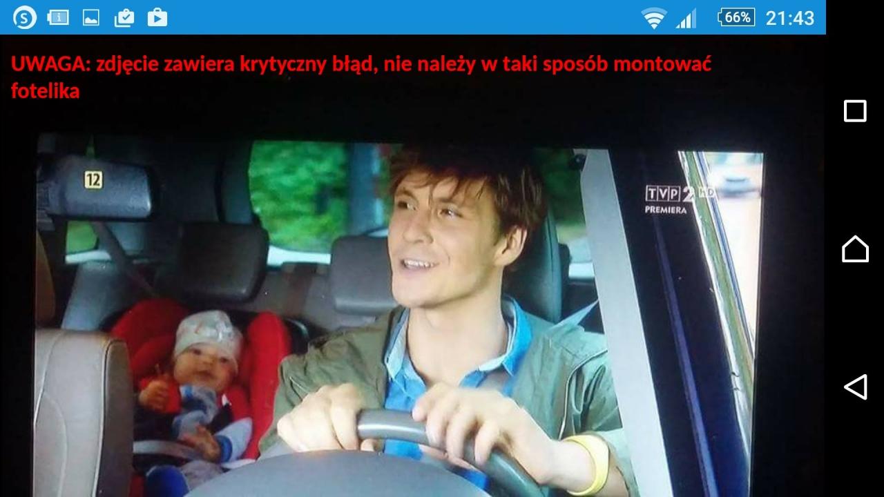 Kadr z serialu M jak Miłość - podesłała Czytelniczka