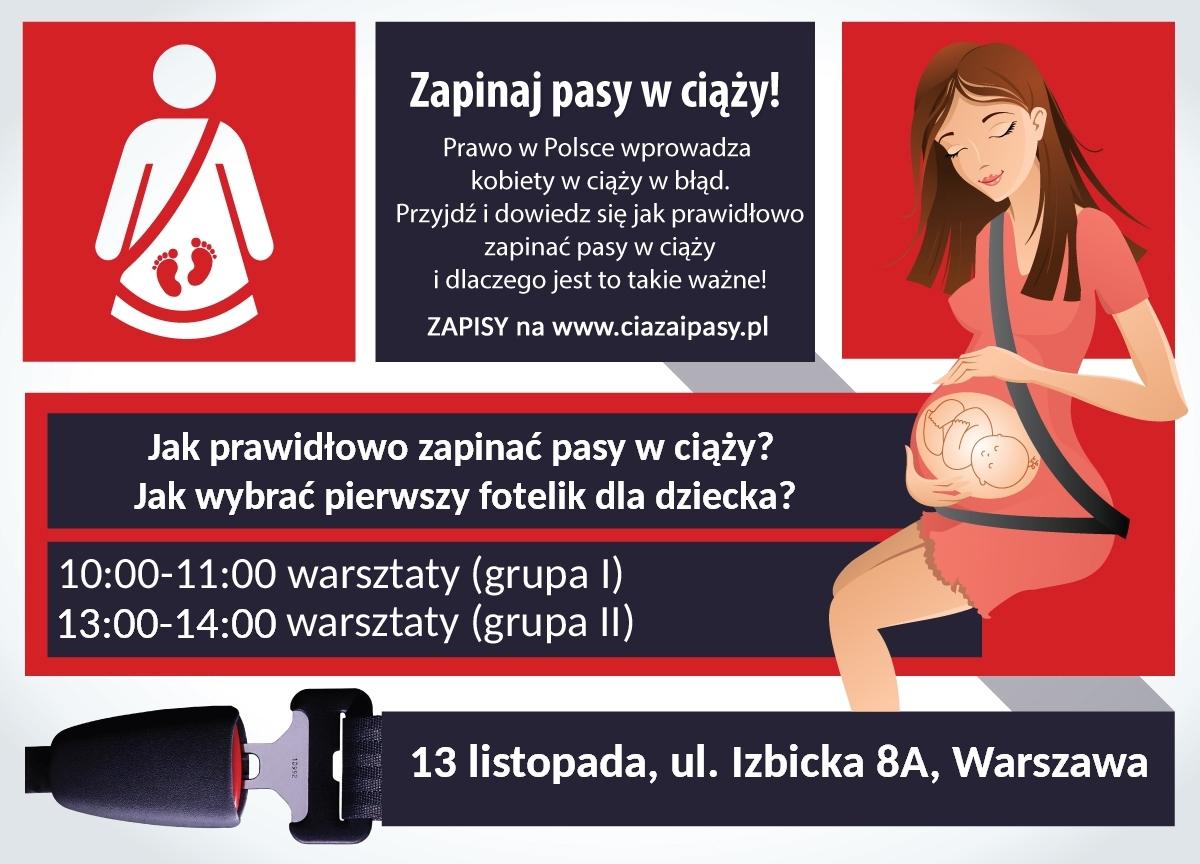 Fotelik.info dla Was - zapraszamy wszystkich chętnych na bezpłatne warsztaty z zapinania pasów w ciąży