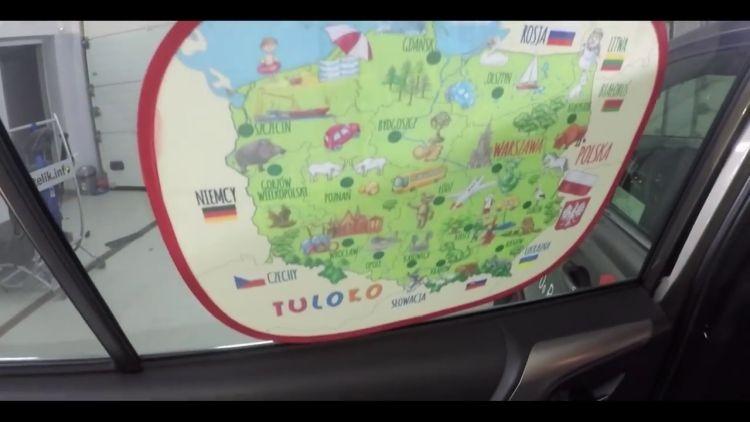 Roletka elektrostatyczna z mapą Polski