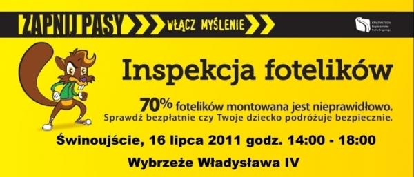 Kolejna inspekcja fotelików już w najbliższą sobotę (16.07.2011)