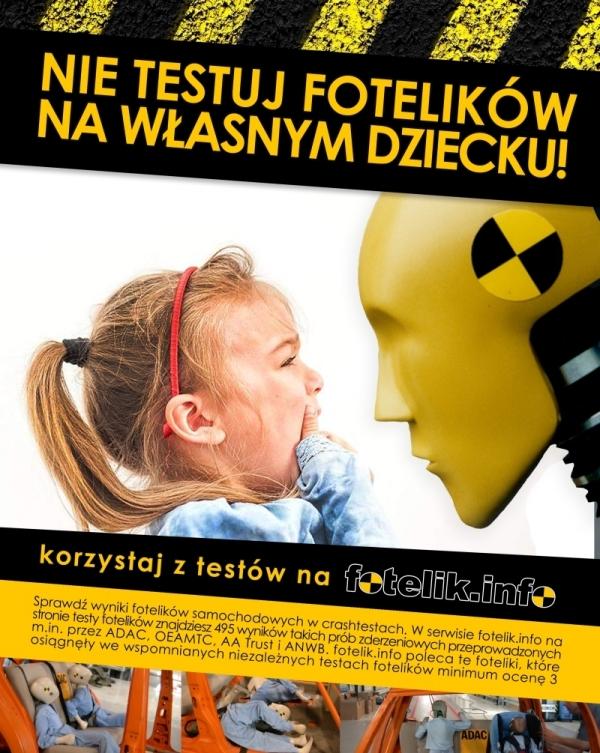 Korzystaj z testów fotelików samochodowych dla dzieci w serwisie fotelik.info