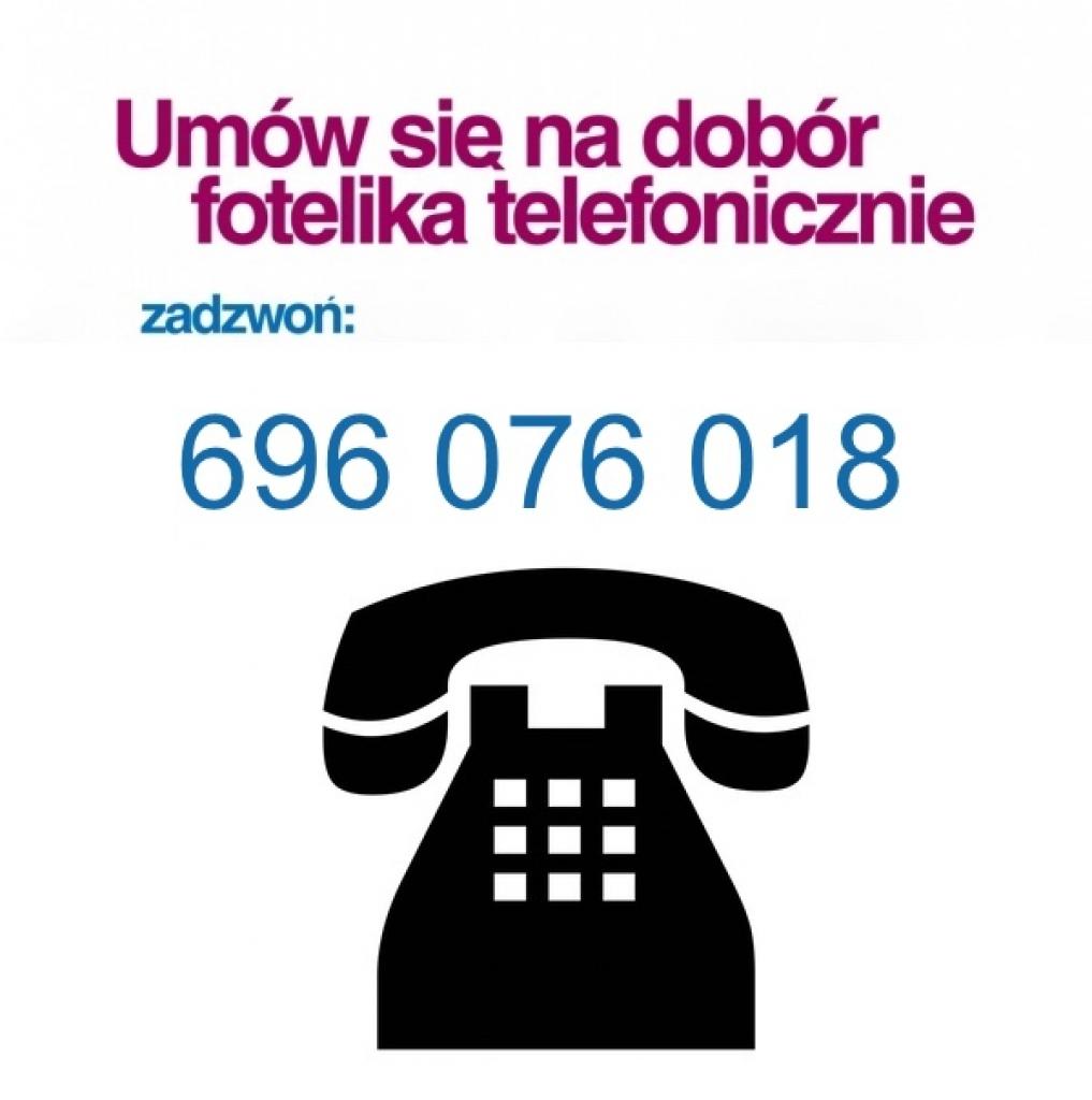 Na dobór fotelika należy mówić się telefonicznie