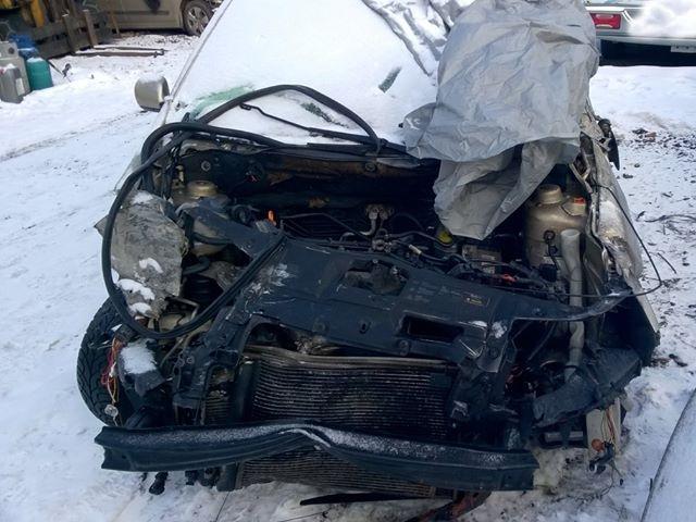 Tak wyglądało auto po wypadku. Gdyby dziecko nie jechało w foteliku, mogłoby skończyć się tragicznie.